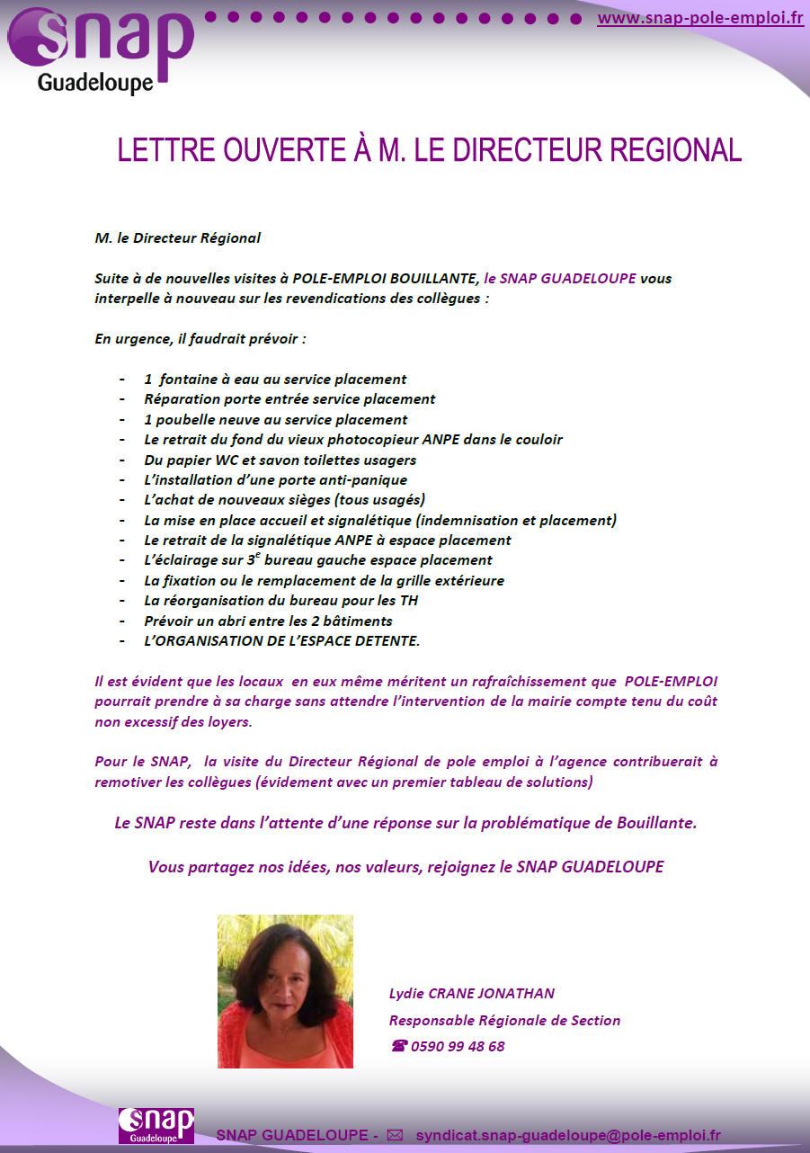 lettre ouverte Guadeloupe